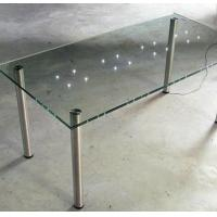 China Laminated Led Tempered Glass Furniture for Hotel Furnishing Glass Table wholesale