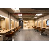 China Hair Beauty Salon Design in natural wood by work Counters and Artistic shelves with Screen wholesale