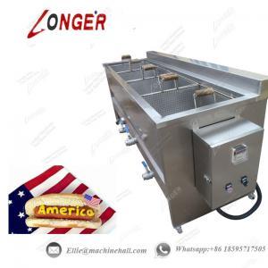China Hot Dog Frying Machine|Automatic Hot Dog Fryer|Stainless Steel Hot Dog Frying Machine|Continuous Hot Dog Frying Machine wholesale