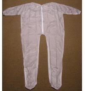 Buy cheap 4Mil 5Mil 6Mil の厚さの明確か白い埋葬の衣服のビニール Unionalls はヒート シールしました from wholesalers