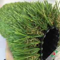 China Monofilament PE + Curly PP 12400Dtex Outdoor Artificial Grass Plump Surface wholesale