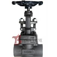 China Metal Seat Forged Steel Globe Valve Handwheel Operated J11H CL800 SW / NPT on sale