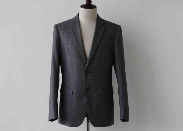 Quality Red Lines Mens Check Suits Polyester / Viscose Jacket Trousers Fit Four Seasons for sale