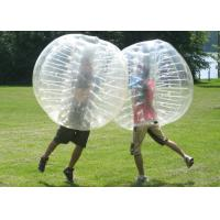 China Transparent Inflatable Bumper Ball , Human Bubble Ball Durable Plato PVC wholesale
