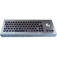 China Desktop movable illuminated metal keyboard with integrated trackball IP65 wholesale