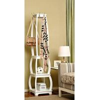 China Standing White Wood Display Rack Shelves With Hooks / Wider Room wholesale