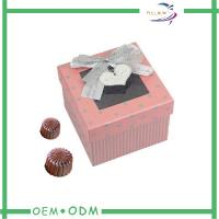 China Customized Ribbon Chocolate Gift Boxes Packaging With Transparent Window wholesale