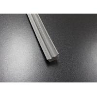 China Gray Long Side EPDM Rubber Extrusion Embedded , Window Weather Stripping wholesale