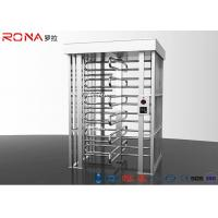 China Stainless Steel Full Height Turnstile Pedestrian Secure Channel 0.2s Opening / Closing Time wholesale