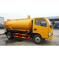 China Sewer suction truck  tanker dongfeng 5000 liters sewage sucking truck for sale wholesale