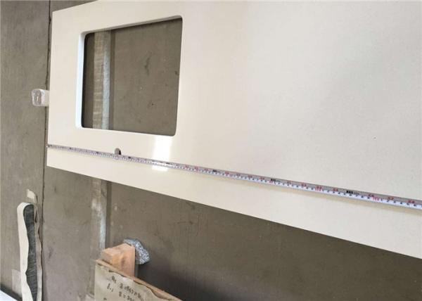 Quality Hotel Prefab Kitchen Countertop HD1100 Pure White Quartz Cabinet Countertop for sale