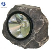 China Polyresin Stone Solar Lights / Solar Rock Landscaping Spotlights For Emergency wholesale