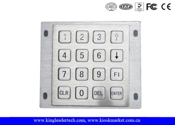 Quality Rugged Panel Mount Kiosk 4 4 Metal Keypad 16 Flat Keys With Pin Connector for sale