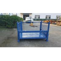 Heavy Duty Warehouse Steel Plate Collapsible Pallet Box