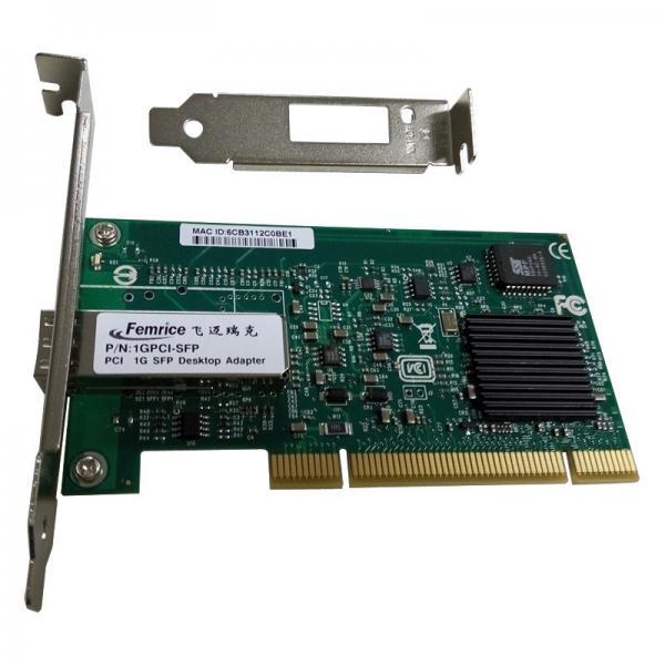 Quality 1G PCI Single Port SFP Slot Network Adapter 1000Mbps Fiber Optic Intel 82545EB Chipset Desktop PC Network Interface Card for sale