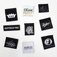 China 100% Polyester Fabric Woven Clothing Labels garment tags and labels wholesale
