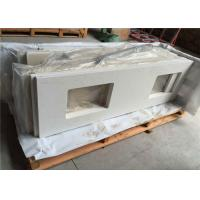 "China 22"" X 73"" Engineered Bathroom Vanity Countertops With Double Rectangle Cutouts wholesale"