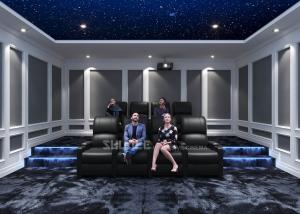 China Home Cinema System With Black Recliner Sofa / Projects / Speakers / Screen wholesale