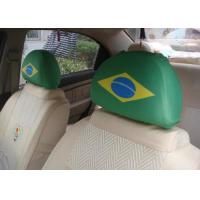 China European Style Car Seat Headrest Covers Personalized For Soccer Fans wholesale
