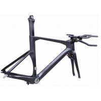Di2 Compatible Carbon Triathlon Bike Frame 700C BSA / BB30 For Racing TT Bicycle