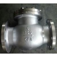 China Cast Carbon Steel Check Valve BB Duplex Renewable Seat Hard Faced With 13 CR Stellite 6 on sale