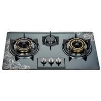 China Built In Three Burner Gas Hob In Stainless Steel , 3 Burner Gas Cooktop 710*400mm wholesale