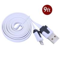China Dual Color Noodle USB Cable Sync Flat Data Charger Cable for iPhone 2G3G4G4S iPad white wholesale