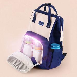 China 300D PU Cation Kill 99% Virus LED UV Disinfection Diaper Bag wholesale