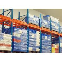 China Conventional Push Back Rack Deep Four Pallet Racking Storage For Logistics Centers wholesale