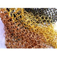 China Ring Dia 1.0 x 20mm S Hook Metal Mesh Drapery with Flat Wire For Ceiling Treatments wholesale