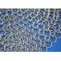 China Food Grade Stainless Steel Chainmail Scrubber For Cast Iron Cookware , Round Shape on sale