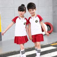 China Polyester Kids School Uniforms Sets Turn - Down Collar Color Combination wholesale