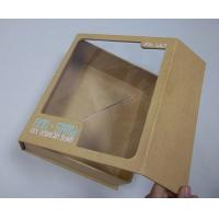 China Pet Window Box, Brown Kraft Paper Thick Cardboard Folding Gift Boxes 8.6 * 7 * 2.8 Inch wholesale