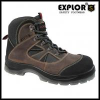 China Men's heavy duty safety shoes with steel toe work shoes waterproof boots brown on sale