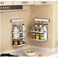 China Metal Hanger Wall Hanging Steel Kitchen Rack Movable Bathroom Storage wholesale