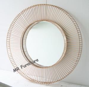 China Hotel Decorative Mirrored Wall Art DecorBeveled Edge Mirror 12kg Weight wholesale