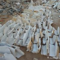 China White Random Loose Stacked Stone For Interior / Exterior Wall Decoration wholesale