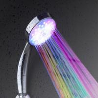 China rainfall shower head with colorful light on sale