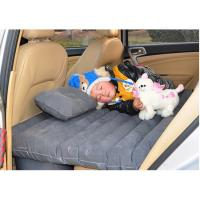 China Hot selling thick car Back seat cover inflatable mattress cushion car travel bed with inflator pump multi-function wholesale