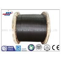 Buy cheap Steel Elevator Wire Rope 8x19 Seale Type For Lifting , Black Color from wholesalers