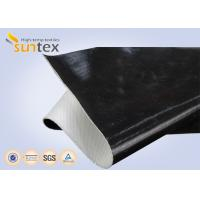 China One Side / Both Side Black Fireproof Fiberglass Cloth Silicone Coating For Fire Retardant wholesale