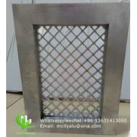 China Aluminum mesh with frame for window decoration any size can be made wholesale