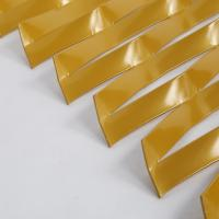 China golden anodized aluminum expanded metal sheet  /  decorative curtain wall expanded metal wholesale