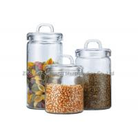 China Custom Recycled  Glass Storage Canisters / small glass jars with lids for home wholesale