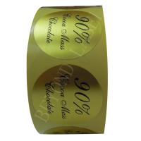 China Roll Packing Shiny Gold Foil Price Labels Printing For Promotional Products wholesale