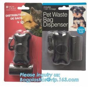 China Environmental Protection Pet Dog Plastic Waste Garbage Bag Disposable Trash Bags, LED Disposable portable pet dog trash on sale