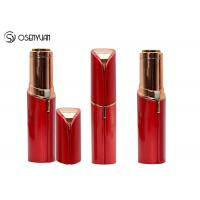 China Rechargeable Mini Painless Face Hair Remover Gold Plated Lipstick Shaped wholesale
