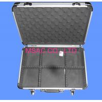 China Detachable Silver Aluminum Tool Cases With Foam / Lock , Hand Tool Boxes wholesale