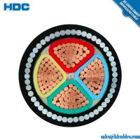 China 0.6/1KV annealed copper conductor xlpe insulated pvc sheath XLPE/PVC FR 4cx95mm + E 16mm Armoured Cable IEC60502 Flame r on sale