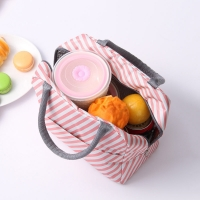 China Custom Printed Striped Oxford Insulated Lunch Cooler Bags wholesale